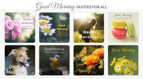 Good Morning Quotes and Wishes for All.