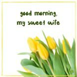 Good morning, my sweet wife.