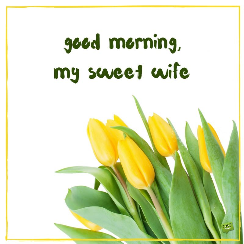 good morning quotes for your wife gm love