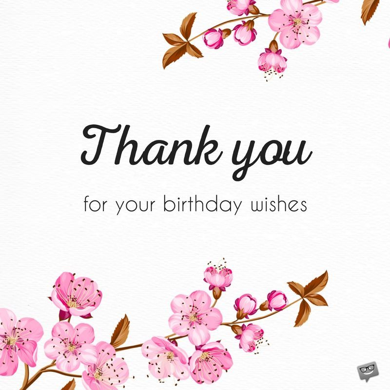 Thank You For Birthday Wishes.Thank You Message Bday