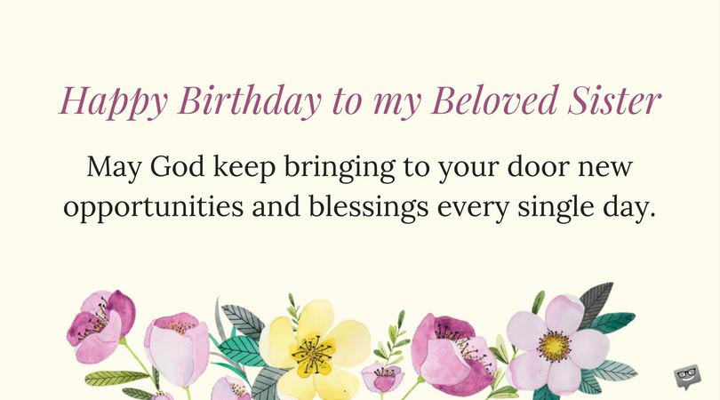 Birthday Prayers For My Sister