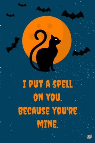 I put a spell on you because you're mine.
