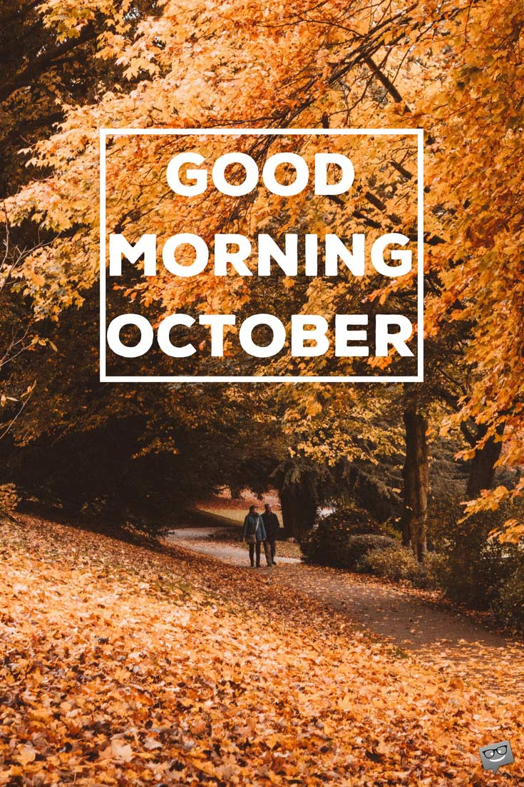 Good Morning, October! | Exploring Autumn in Various Shades