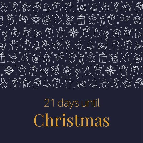 21 Days until Christmas.