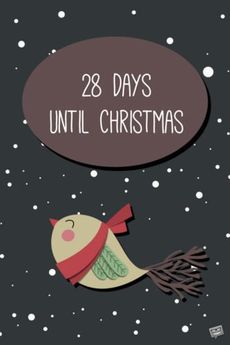 28 Days until Christmas.