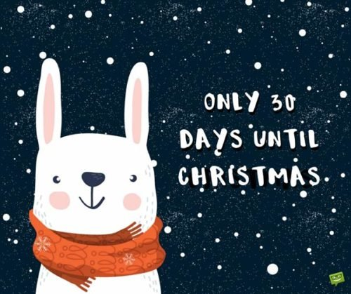 Only 30 Days until Christmas.