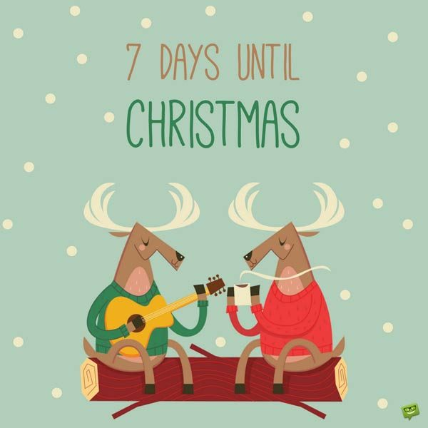 7 days until Christmas.