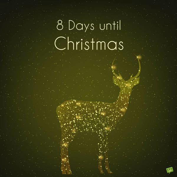 8 days until Christmas.