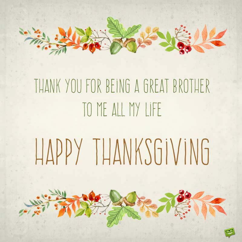 Thanksgiving Wishes For My Sister And Brother