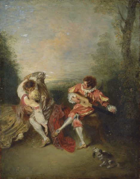 Antoine Watteau - The Surprise, 1719.