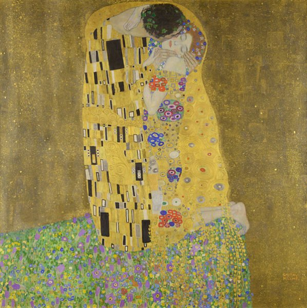 Gustav Klimt. The kiss, 1907-8