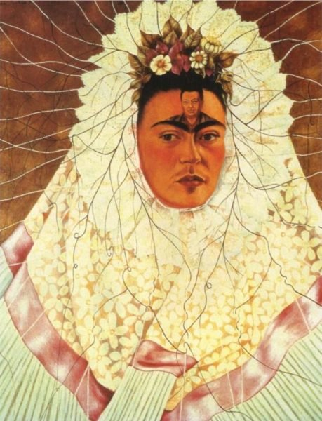 Frida Kahlo - Diego on my mind (Self-portrait as Tehuana), 1943.