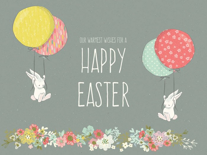 Our warmest wishes for a Happy Easter.