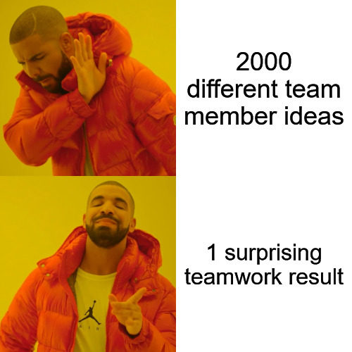Motivational Drake Hotline Bling Meme for teams.