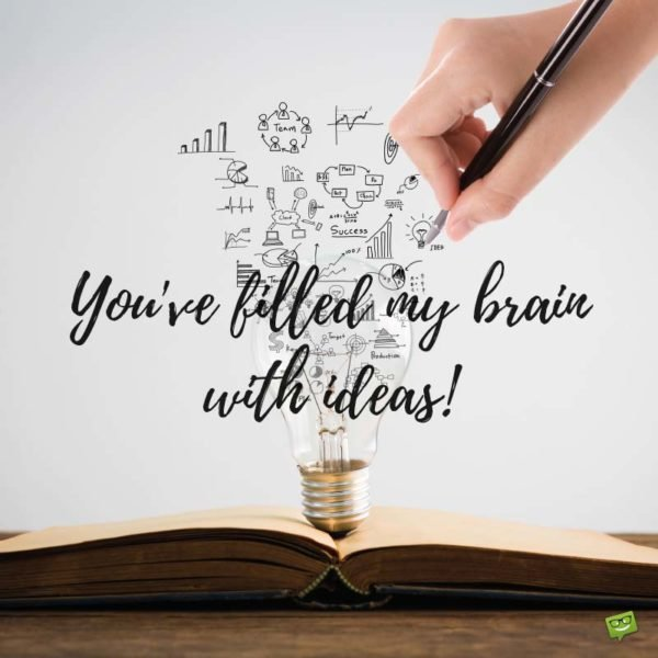 You've filled my brain with ideas!
