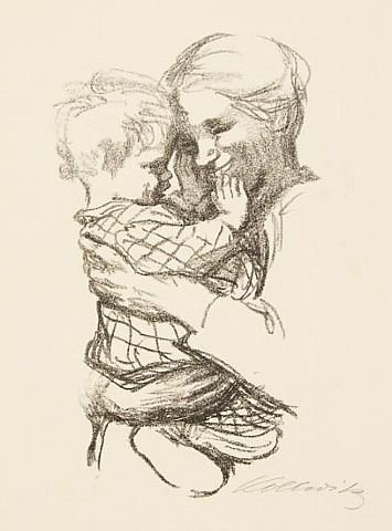 Mother with Child in Her Arms by Kaethe Kollwitz