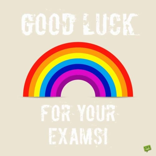Good Luck for your exams!