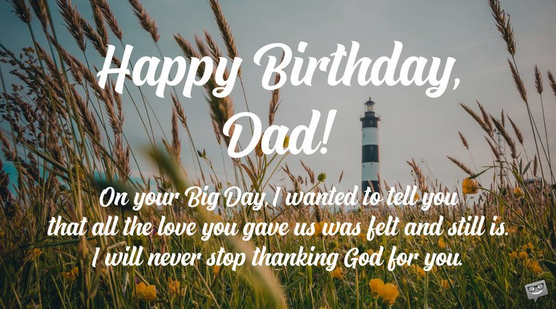 Grateful to God for Making You my Dad | Birthday Prayers for my Father