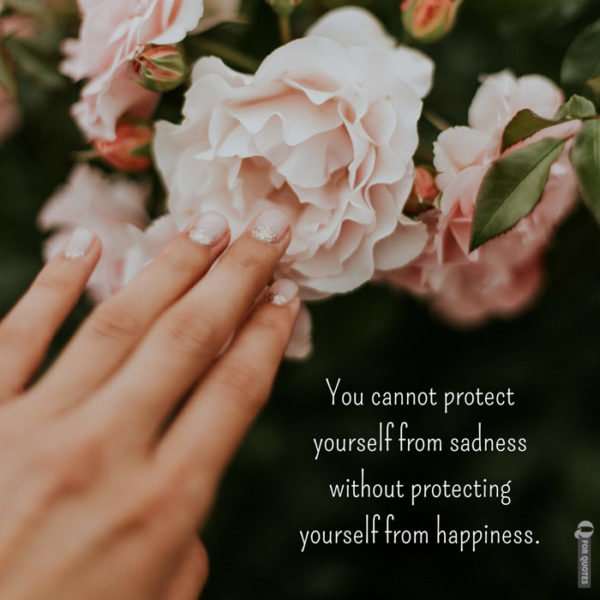 You cannot protect yourself from sadness without protecting yourself from happiness. Jonathan Safran Foer