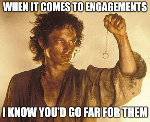 Frodo engagement Ring Meme.