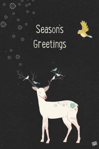 Season's Greetings.