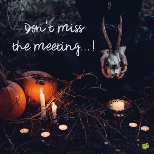 Don't miss the meeting...!