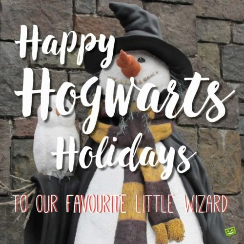 Happy Hogwarts Holidays to our favorite little wizard.
