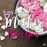 To my darling mother: I love you!