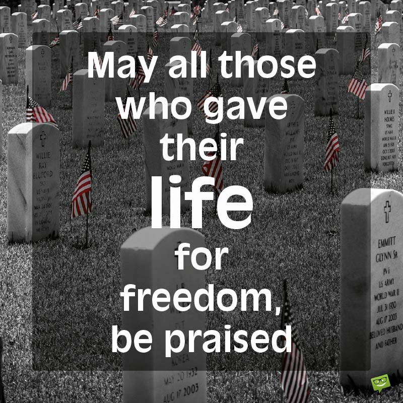 Thank You for your Service   50 Memorial Day Quotes
