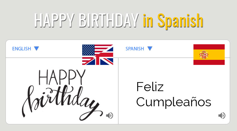 Happy Birthday in Spanish | Feliz Cumpleaños!