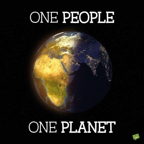 One People, One Planet.