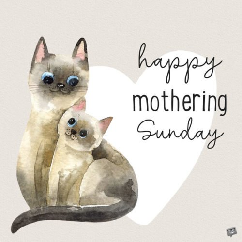 Happy Mothering Sunday!