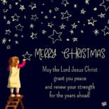 May the Lord Jesus Christ grant you peace and renew your strength for the years ahead! Merry Christmas.