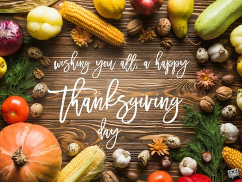 Wishing you all, a happy Thanksgiving day.