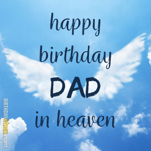 Happy Birthday, Dad, in heaven.