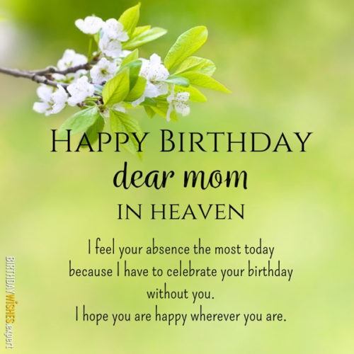 Happy Birthday, dear mom, in heaven. I feel your absence the most today because I have to celebrate your birthday without you. I hope you are happy wherever you are.