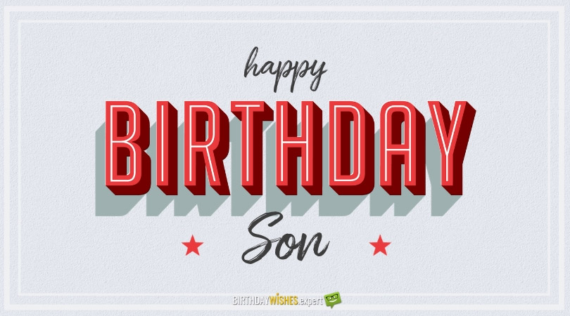 Happy Birthday Prayer For A Son