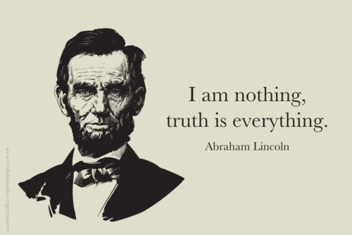 Truth quote by Abraham Lincoln on image for easy sharing.
