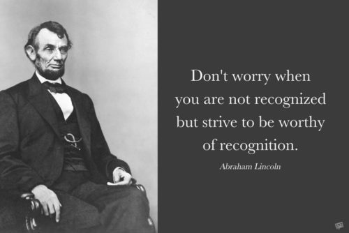 Motivational Abraham Lincoln quote on image for easy sharing in chats and status updates.