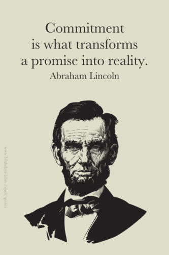 Hard work quote by Abraham Lincoln on image for easy sharing on chats and status updates.