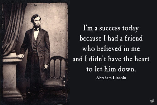 Abraham Lincoln friendship quote on image for easy sharing on posts and chats.