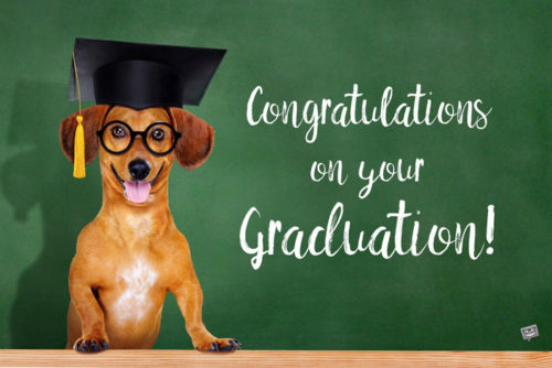 Congratulations on your graduation.
