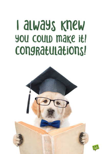 Cute high school graduation wish.