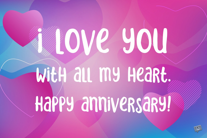 Happy Anniversary wish for husband on an image you can share with him.