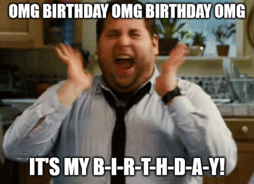 omg it s my birthday Jonah Hill excited meme