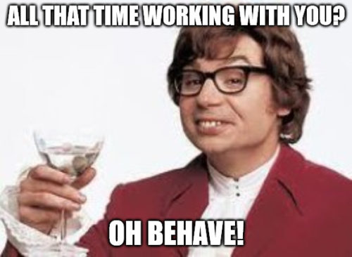 Austin Powers Wine Anniversary Meme.