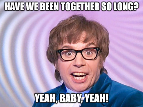 Austin Powers Surprised Anniversary Meme.