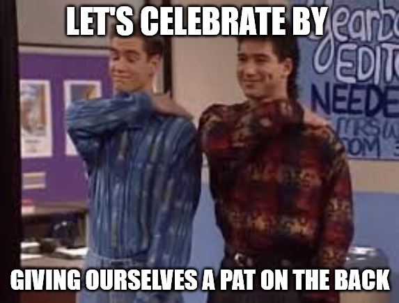 Saved by the bell Celebration Meme.