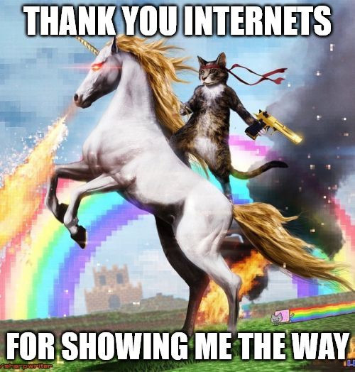 Welcome to the internets thankful meme.