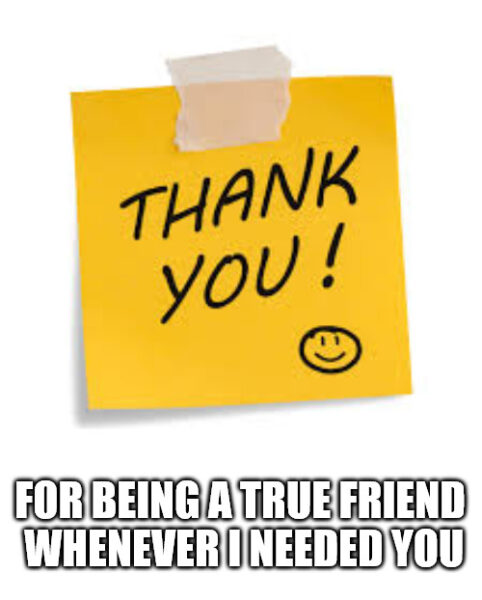 Thank you meme with post it.